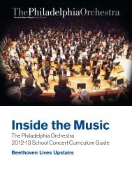 Inside the Music - The Philadelphia Orchestra