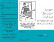 Minor Surgery Patient Instructions - St. Joseph's Health Centre Toronto