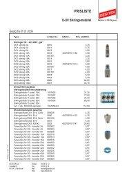 Prisliste D-D0 sikringsmateriel - DESITEK A/S