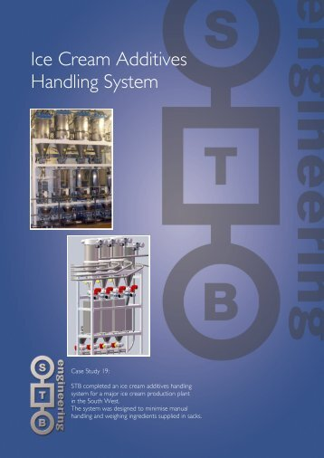 Ice Cream Additives Handling System - STB Engineering Ltd