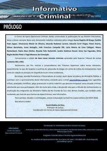 n. 08/2012 - Ministério Público - RS