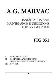 Marvac Fig. 851 (Gauge Hatch) - Safety Systems UK Ltd