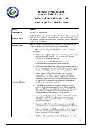 bilgi formu - Giresun Üniversitesi Sağlık Bilimleri Fakültesi