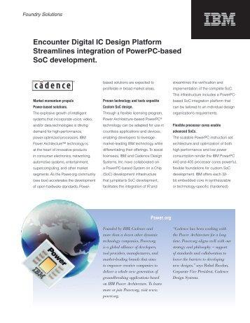 Cadence Platform and Ref 5-19.indd - Cadence - Cadence Design ...