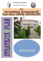 Stratejik Plan - Sultanhisar İlçe Milli Eğitim Müdürlüğü