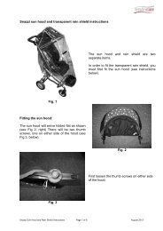 Sun Hood and Transparent Rain Shield Instructions - Tendercare Ltd
