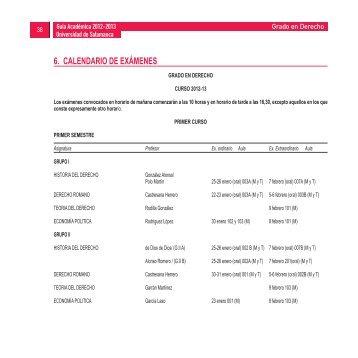 Grado en Derecho 2012-2013 - Universidad de Salamanca