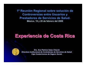 Experiencia de Costa Rica
