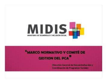 marco normativo y comité de gestion del pca - Ministerio de ...
