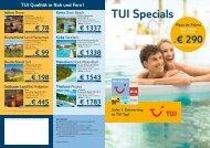 TUI Specials ...und günstig Sonne tanken! Teneriffa - TUI ReiseCenter