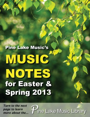 PDF catalog - Pine Lake Music