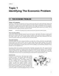 Topic 1 Identifying The Economic Problem - Essentials Publications
