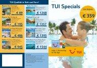 TUI Specials - TUI ReiseCenter