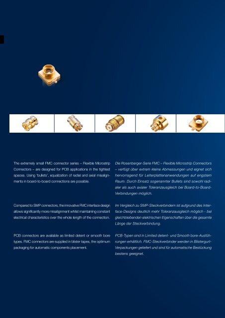 Die Rosenberger-Serie FMC – Flexible Microstrip Connectors