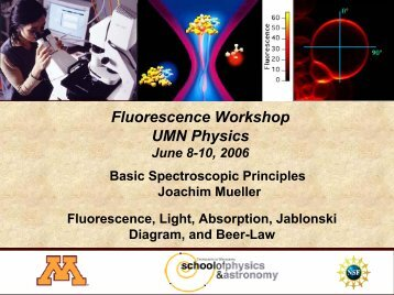 Basic Spectroscopic Principles