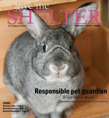 Spring Newsletter 2012 - the Cocheco Valley Humane Society