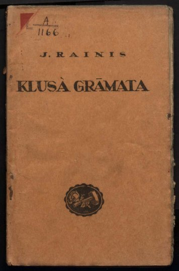Page 1 Page 2 Page 3 Page 4 Page 5 Klusā grāmata 1921. g ...