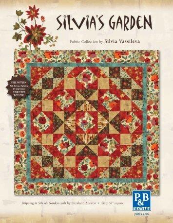 Skipping in Silvia's Garden - P&B Textiles