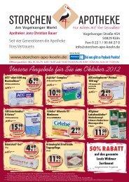 Unsere Angebote für Sie im Oktober 2012