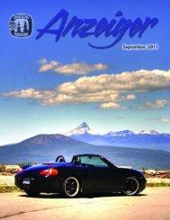 September 2011 Anzeiger - Oregon Region Porsche Club of America