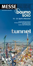 MESSE 9. - 25. April in München - Tunnel