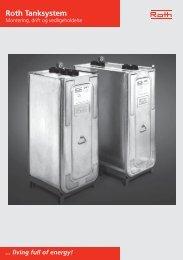 DVT tanksystem montering, drift og vedligeholdelse - Roth