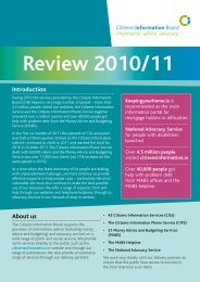 Annual Review 2010-11 (pdf) - Citizens Information Board