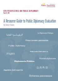 A Resource Guide to Public Diplomacy Evaluation - USC Center on ...