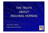 THE TRUTH ABOUT INGUINAL HERNIAS