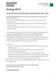 Förderantrag - Stadtwerk am See