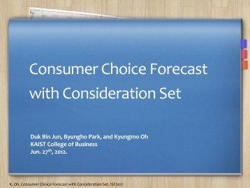 Consumer Choice Forecast with Consideration Set