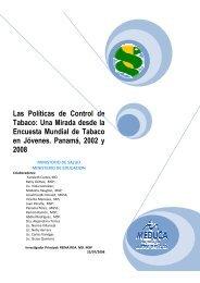 GYTS Informe Panamá - Español (datos revisados) - Ministerio de ...