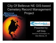 City Of Bellevue NE GIS-based Cemetery Record Management Project