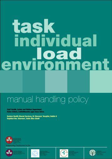 manual handling manual handling operations regulations 1992 guidance on regulations