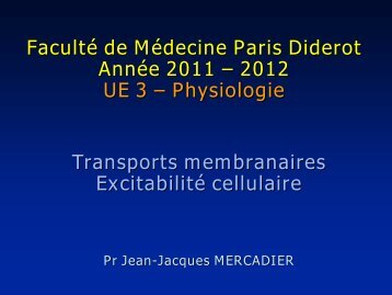 Cours PACES UE3-Physio