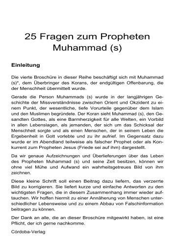 25 Fragen zum Propheten Muhammad - Way to Allah