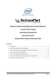 KwaZulu-Natal Report - SchoolNet South Africa
