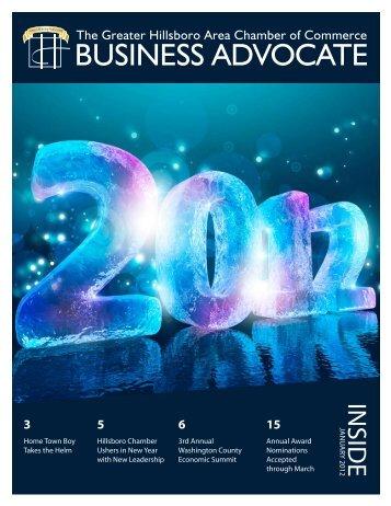 January 2012 - Hillsboro Chamber of Commerce