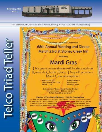 Mardi Gras - Telco Triad Community Credit Union