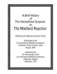 maillard reactions in food - imars