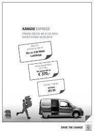 Renault Kangoo Express Preisliste [PDF]