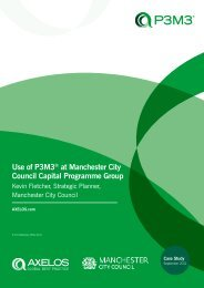 Use of P3M3® at Manchester City Council Capital Programme Group