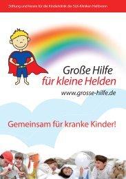 Gemeinsam für kranke Kinder! - Große Hilfe für kleine Helden
