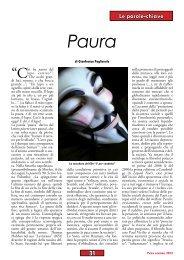 Paura di Gianfranco Pagliarulo - Anpi