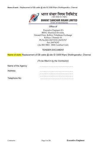 details... - Chennai Telephones - BSNL