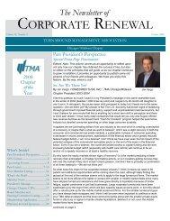 CORPORATE RENEWAL - Turnaround Management Association