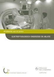 ElEktrofysiologisch ondErzoEk En ablatiE - UZ Brussel: Patientinfo