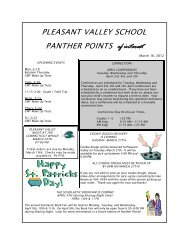 PLEASANT VALLEY SCHOOL PANTHER POINTS of interest