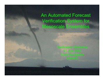 An Automated Forecast Verification System for Mesoscale Ensembles
