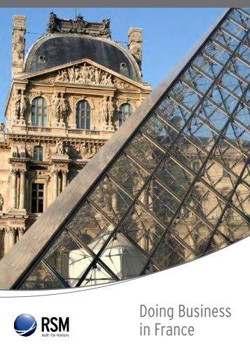 Doing Business in France - RSM International